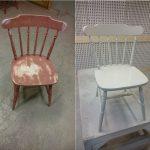 lakkering av stol